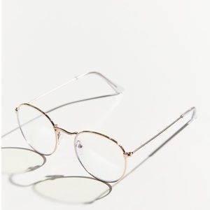 Urban Outfitters Taylor Blue Light Round Glasses